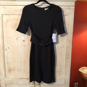 NWT - Just Fab Black Dress - Corset Belt